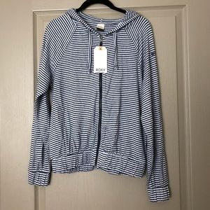 NWT - blue and white striped Roxy sweatshirt
